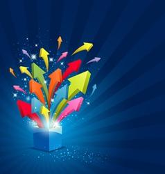 arrow magic box vector image