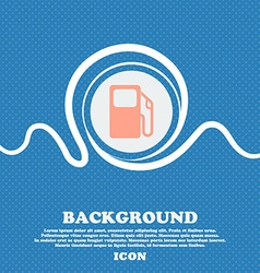 Auto gas station sign icon Blue and white abstract vector