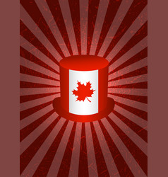 Background with symbols of canada top hat vector