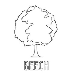 Beech icon outline style vector