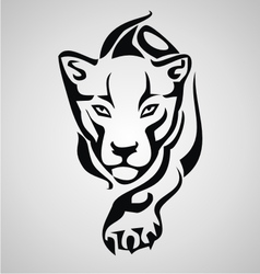 Big cat tribal vector