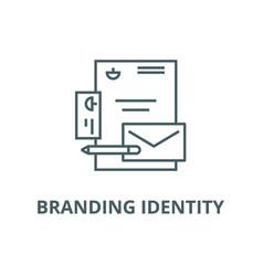 branding identity line icon branding vector image