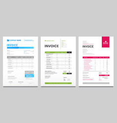 Business invoice form template invoicing quotes vector