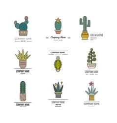 Cactus Logo Templates vector