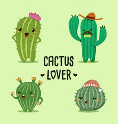 Cactus lover vector
