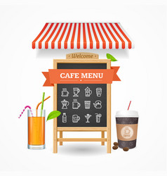 Cafe menu concept vector