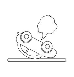 car auto accident icon vector image