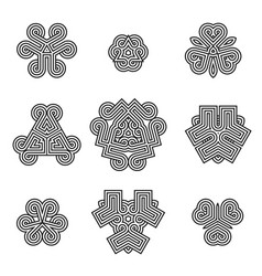 Celtic decoration design elements vector