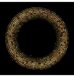 Circle Radius Abstract Golden Background vector