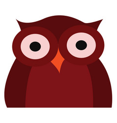 Clipart a dark red owl or color vector