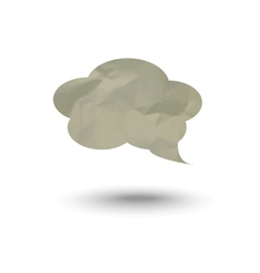 cloud for thoughts and inscriptions vector image
