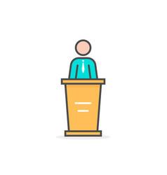 Colored linear spokesman icon vector