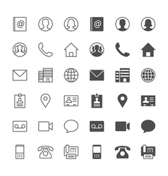 Contact icons vector image vector image