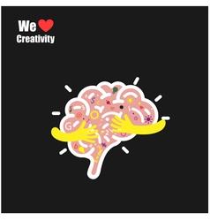 Creative brain logo design template vector