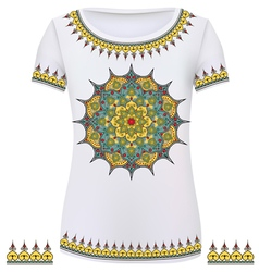 Design T-Shirts Print a fashionable ornament for w vector