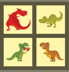 Dinosaurs dino animal tyrannosaurus t-rex vector