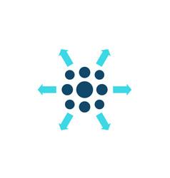 Distribution process icon vector