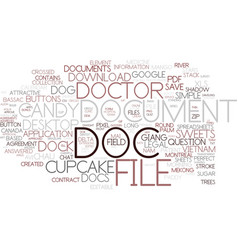 Doc word cloud concept vector