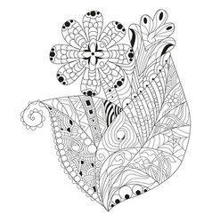 Entangle stylized flower hand drawn lace vector