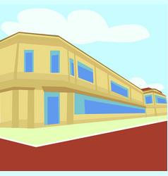 Flat design city background vector
