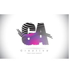 Ga g a zebra texture letter logo design vector