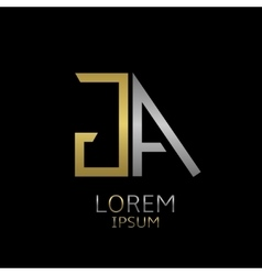 GA letters logo vector