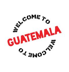 Guatemala typographic stamp vector