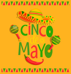 Hand drawn lettering - cinco de mayo vector