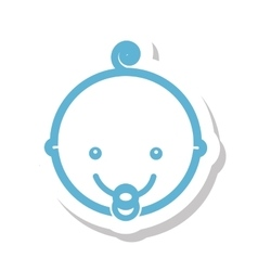 Head cute baby isolated icon vector