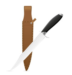 Hunting knife vector