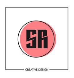 initial letter sr logo template design vector image