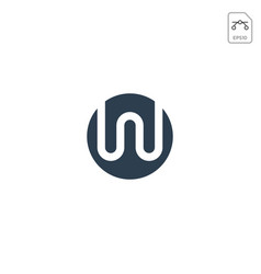 initial w logo design or icon isolated vector image