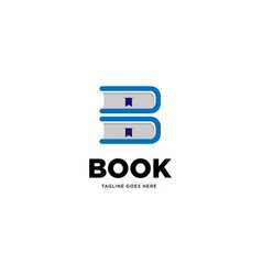 Letter b book logo template icon element vector