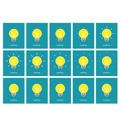 Light bulb shining animation sprite sheet flat vector