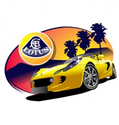 Lotus sports car vector