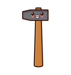 Mallet construction tool cute kawaii cartoon vector
