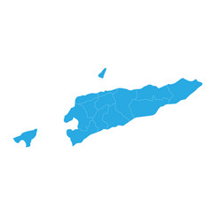 map of east timor high detailed map - east timor vector image