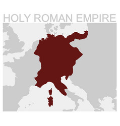 Map of the holy roman empire vector