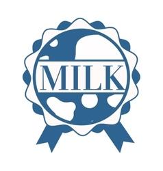 milk splash with text vector image