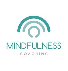 Mindfulness coaching logo company vector