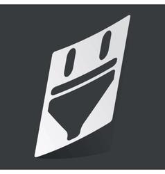 Monochrome plug sticker vector