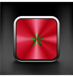 Morocco Flag Glossy Button vector image