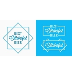 Oktoberfest vintage logo set design background vector image