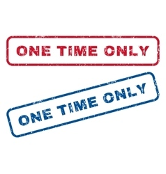 One time only rubber stamps vector