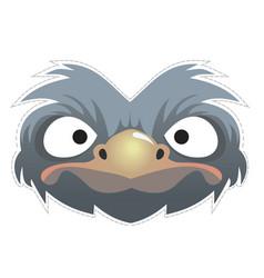 Ostrich mask vector