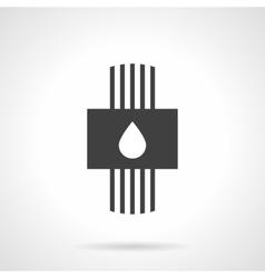 Plumbing system black design icon vector image