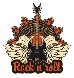 Poster for a rock and roll vector