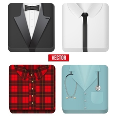Premium Icons white shirt tuxedo doctor and vector