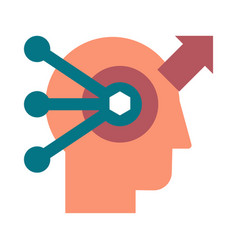 problem solving and analysis flat icon vector image