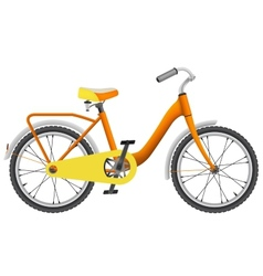 Realistic orange childrens bike for boys vector image